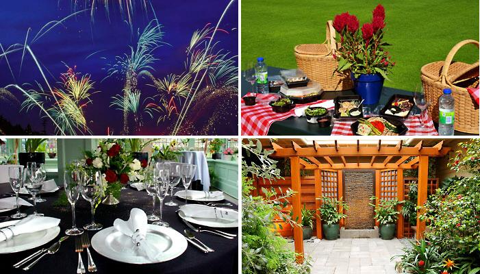 Сады Бутчартов (The Butchart Gardens): рестораны, фейерверки, пикники