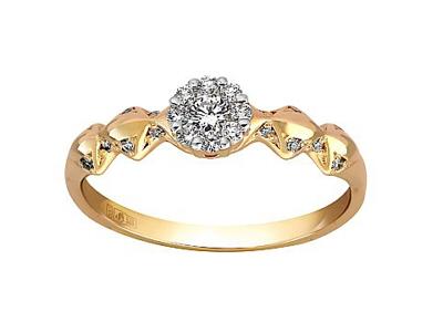золотое кольцо с алмазом