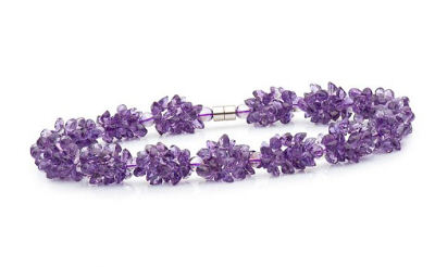 браслет с цветами из аметиста