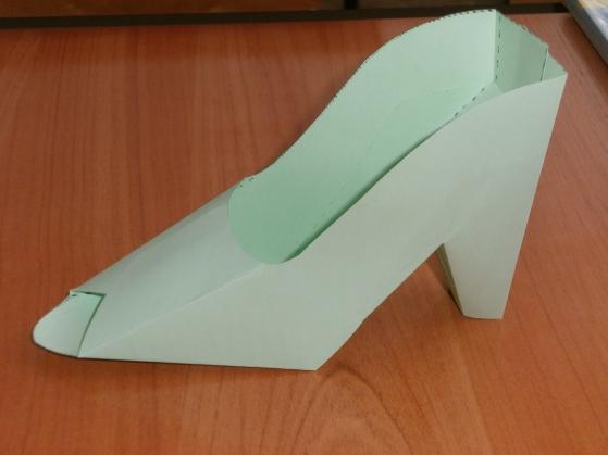 Как сделать туфельку из бумаги к