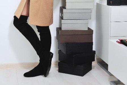 Как и с чем носить модные ботфорты и сапоги-чулки