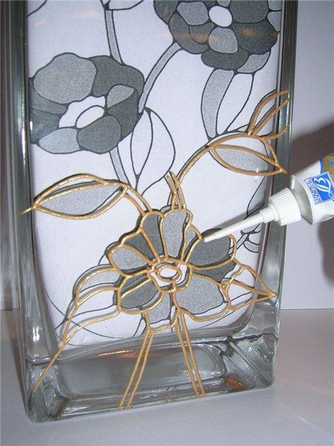 Как самим декорировать вазу