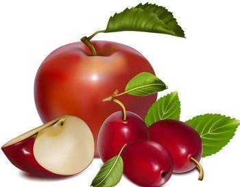 рисунок графика яблоки и сливы