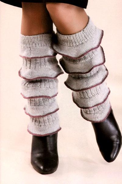затейливые гетры до колена с