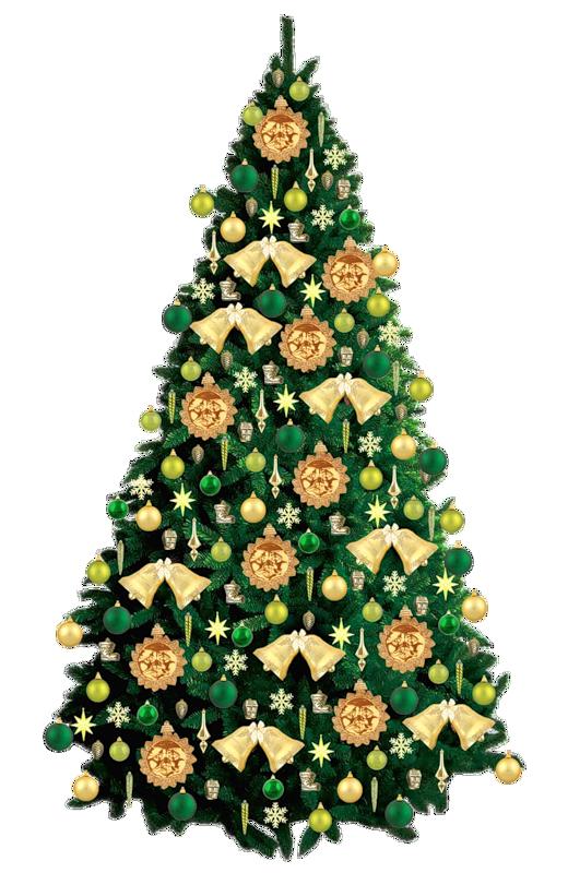 Красивые новогодние елки.