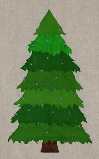 Нарисованный елка