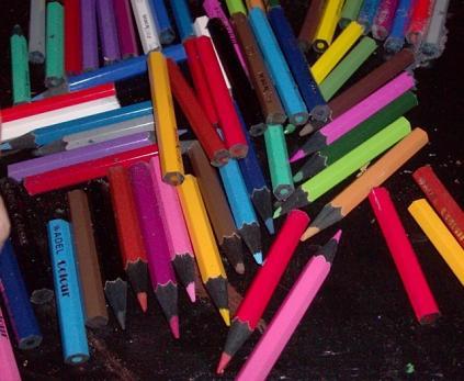 Как применить карандаши для интерьера. Рамка для фото