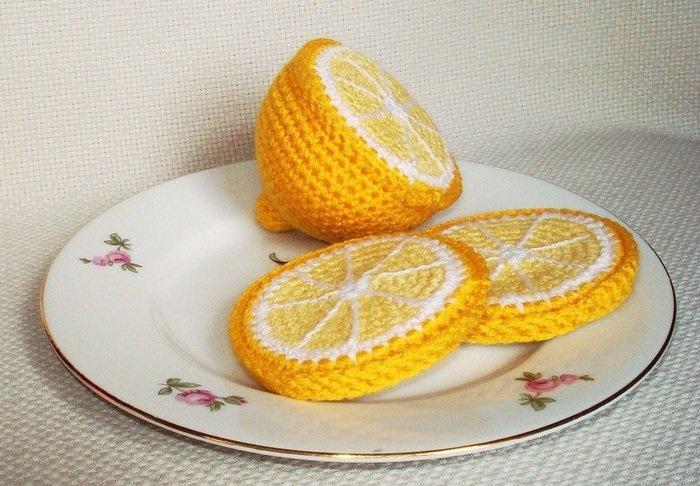 Вязание крючком лимон