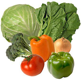 овощи диета шесть лепестков перец капуста брокколи латук лук помидор