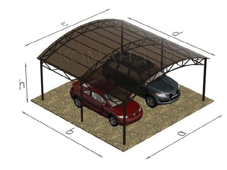 Как построить навес из поликарбоната?