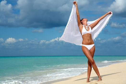 похудеть для пляжа красивая девушка