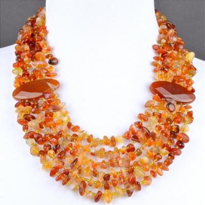 ожерелье из янтаря сердолика