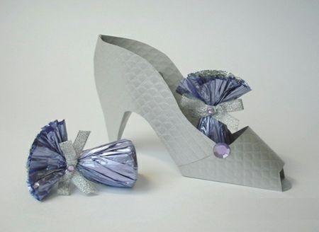 шаблон туфельки из картона