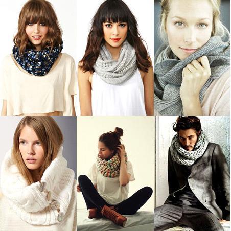 шарфы-снуды мода осени 2013 разные модели