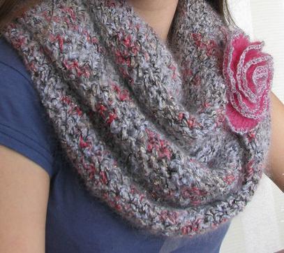 Модель шарфа-снуда «Зимнее