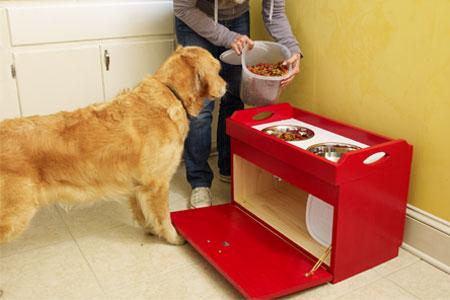 Как сделать удобную тумбочку для кормления собаки