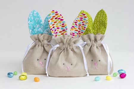 Как сшить детскую сумочку в виде пасхального кролика?