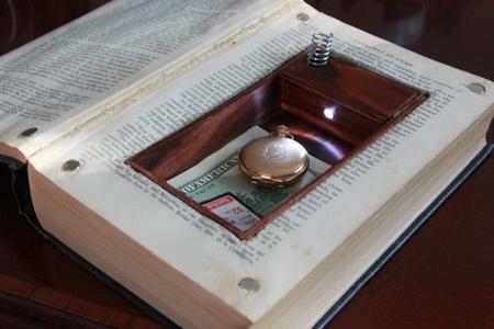 Как сделать секретный тайник в книге?
