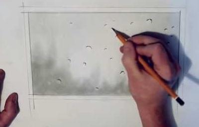 Как рисовать реалистичные капли дождя