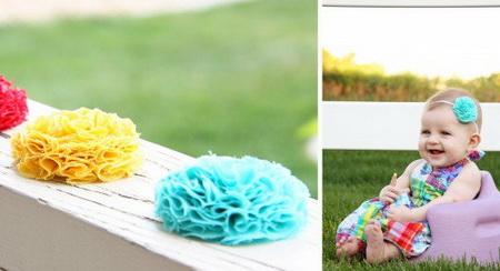 Как сделать декоративный цветок из ткани