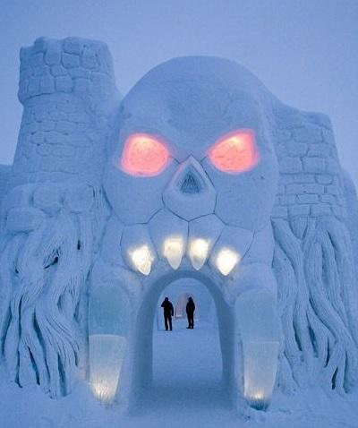 Как выглядит ледяной отель в Финляндии