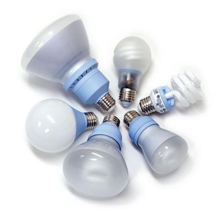 Семейство компактных флуоресцентных лампочек хорошо известно своей спиральной формой, так же как и практически любой формой, ассоциирующейся с лампочками накаливания и галогенными лампочками: колокольчик, круг, канделябр, телескопическая, светодиоды