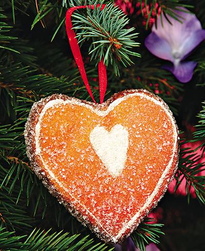 Вспомните, что в старину было принято украшать елку раскрашенными грецкими орехами и шишками, засушенными ароматными фруктами