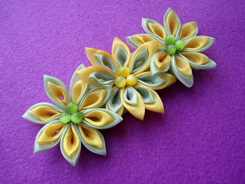 цветы канзаши