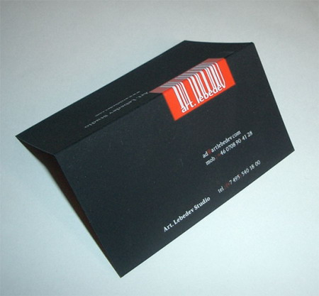 визитка Артемия лебедева