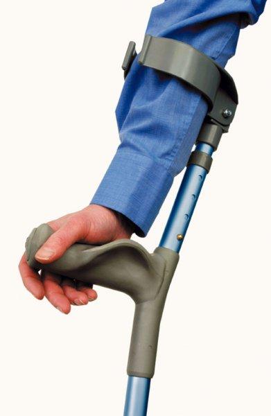 не забывайте, что костыли-трости с горизонтальными рукоятками, и дополнительным захватом на руку сверху, гораздо более удобны...