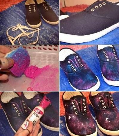 Как переделать старые кеды кроссовки