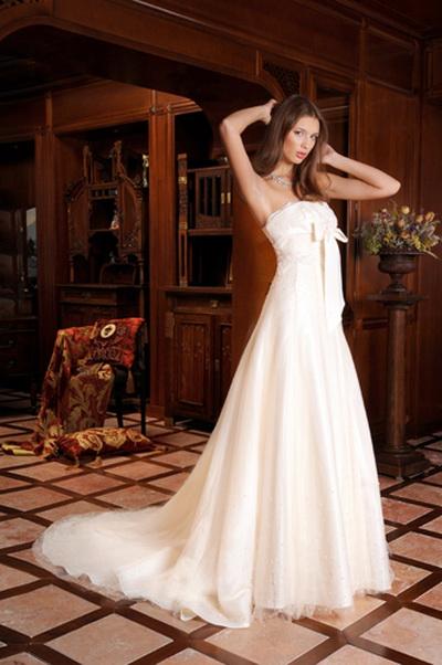 """свадебное платье фасон """"Трапеция"""""""