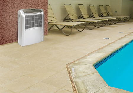 Если в просторном помещении наблюдается лишь среднестатистически повышенный уровень влажности, средняя емкость вам подойдет для него лучше
