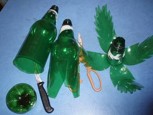 Пальма с пластиковых бутылок пошаговые