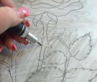Как рисовать по гранитному камню