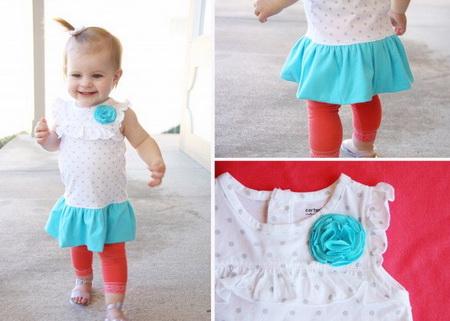 Как сшить детское платье из боди (распашонки)