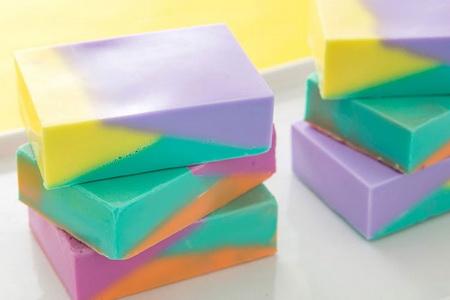 Как сварить мыло с фигурными слоями