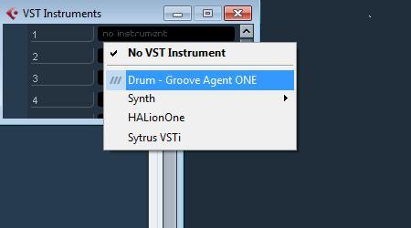 Cubase скрин пресеты барабанов Drum Groove