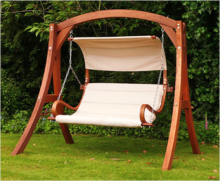 современные дизайнерские деревянные качели-скамья