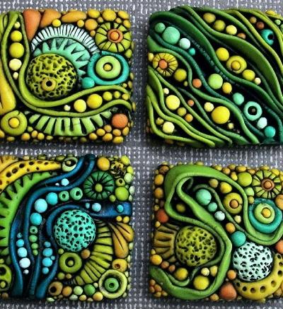 Как сделать интересные бусины из полимерной глины