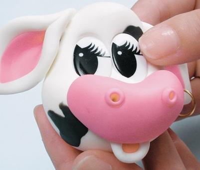 Как сделать корову из полимерной глины