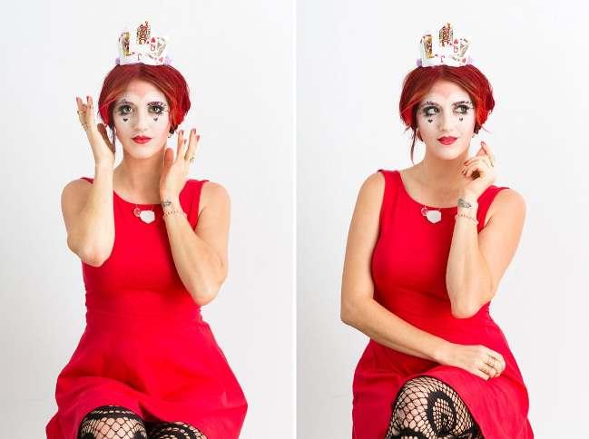 Как сделать тематический макияж на Хэллоуин: грим карточной королевы
