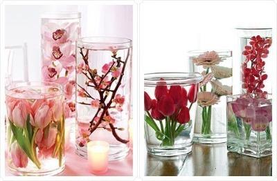 Цветы пластик стекло 185