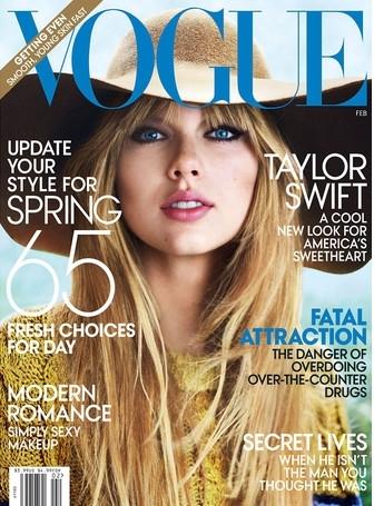 Тейлор Свифт (Taylor Swift) во время фотосессии для американского февральского номера журнала «Вог» (Vogue)