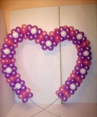 Как сделать сердце из воздушных шаров для свадебного торжества?