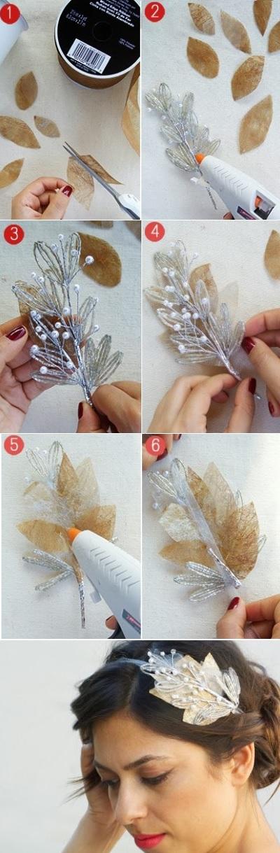Как сделать весенее украшение для волос