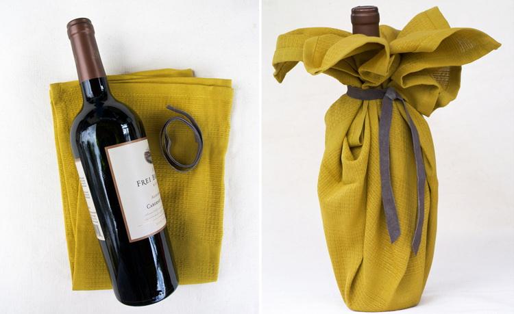Необычная упаковка для вина своими руками 12