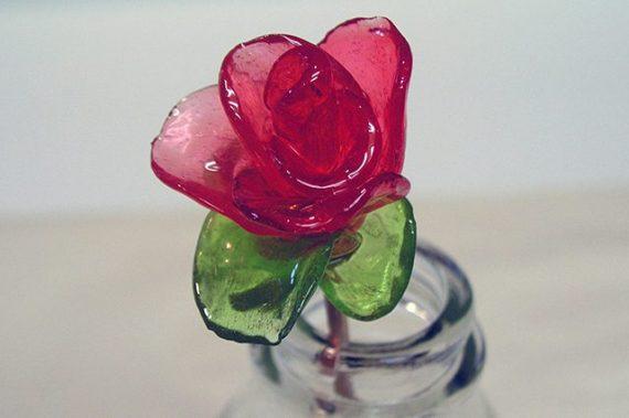 Как сделать розы из карамельных конфет