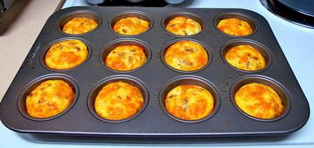 Как приготовить на завтрак мясной кекс?