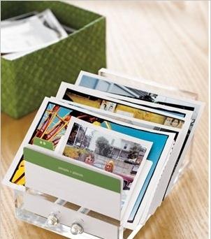 Еще одна очень любопытная офис-версия: используйте органайзер для визитных карточек